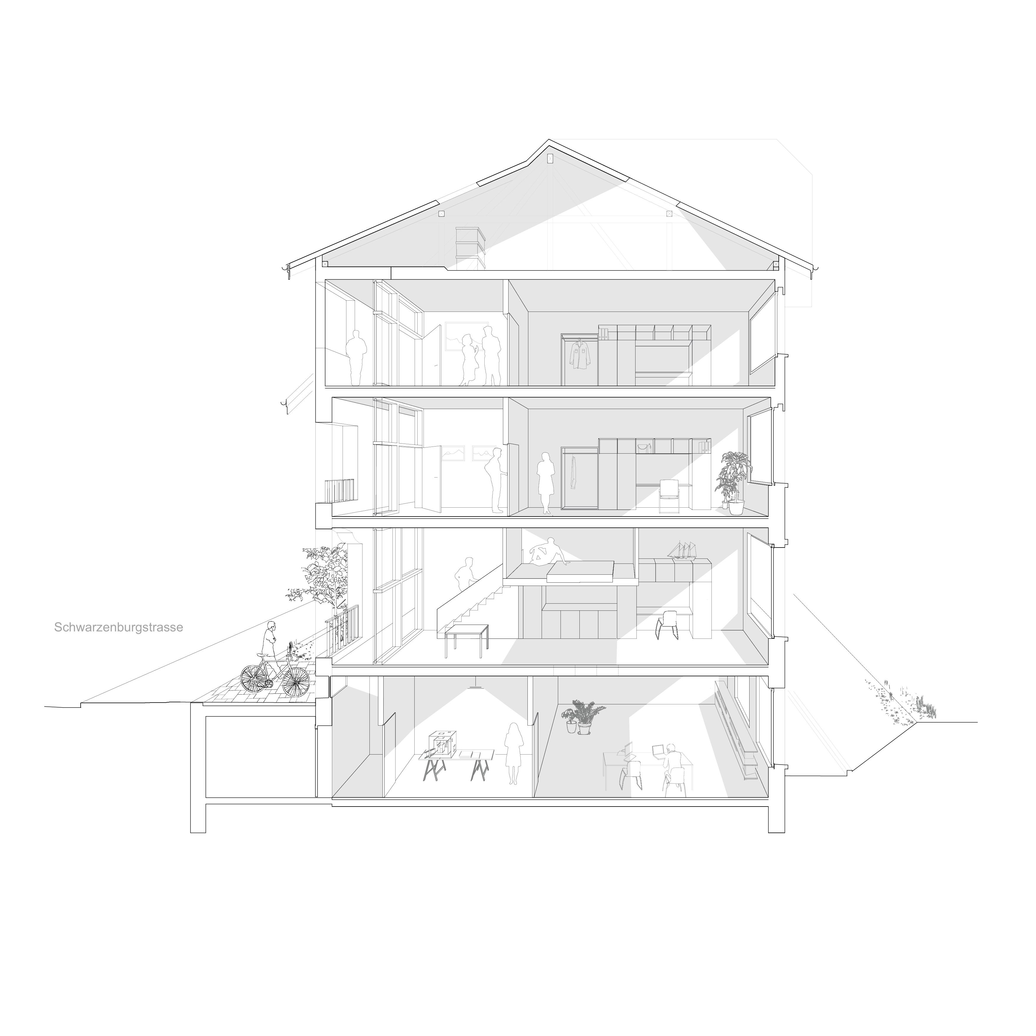 Atmosphaerischer Schnitt Apart Architektur Ag