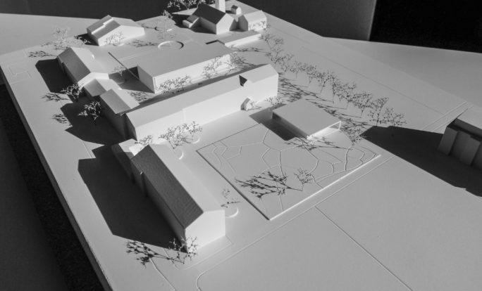 Erweiterung Primarschule Untere Au_ Heimberg Modell