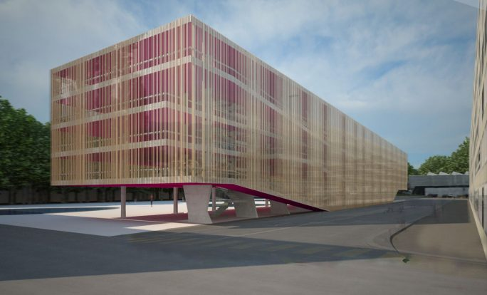 "Studien Neubau Parkhaus ""pink Cadillac"" Stadt Biel"